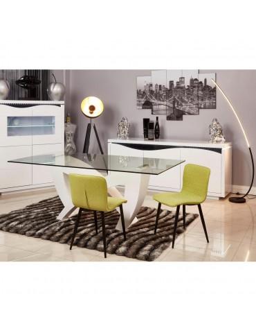 Lot de 4 chaises de sejour design Jelly vert 43111VE
