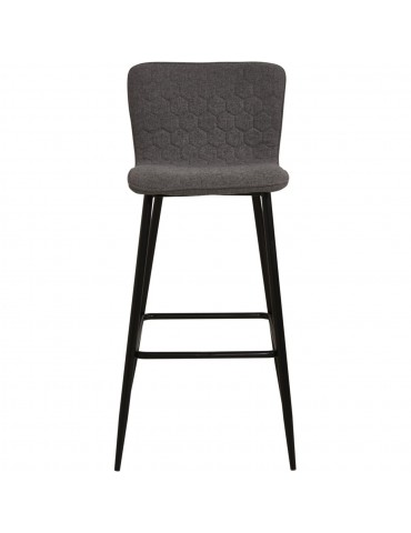 Lot de 2 tabourets de bar design sigrid gris 43113GR