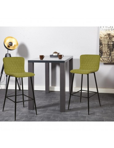 Lot de 2 tabourets de bar design sigrid vert 43113VE
