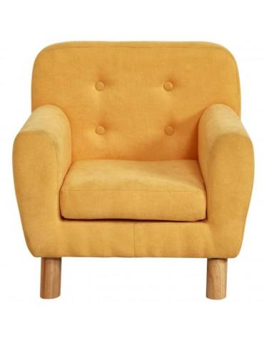 Fauteuil enfant tissu nolby jaune 25114JA