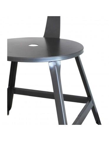 Lot 2 chaises industriel vetro gris 42702GR