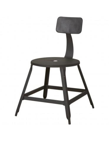 Lot 2 chaises industriel vetro noir 42702NO