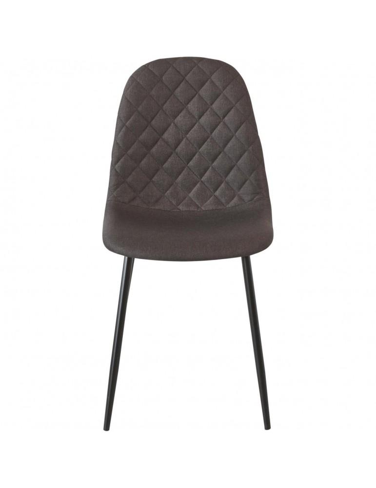 Lot de 4 chaises de sejour tissu simi chocolat 39541CH