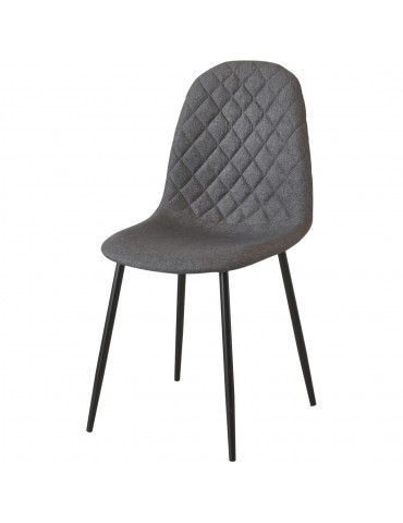 Lot de 4 chaises de sejour tissu simi gris 39541GR