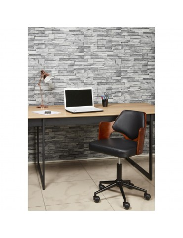 Chaise de bureau elegante plume noir 35307NO