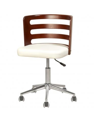 Chaise de bureau elegante decker blanc 35308BL