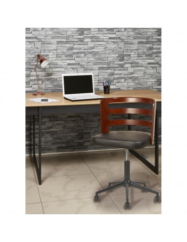 Chaise de bureau elegante decker noir 35308NO