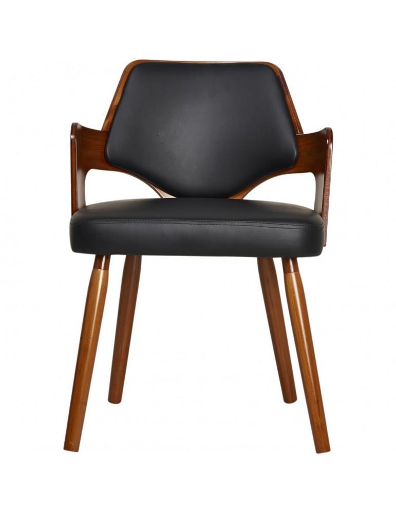 Chaise de sejour scandinave niev noir 35301NO