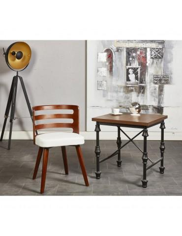 Chaise de sejour design scandinave miller blanc 35302BL