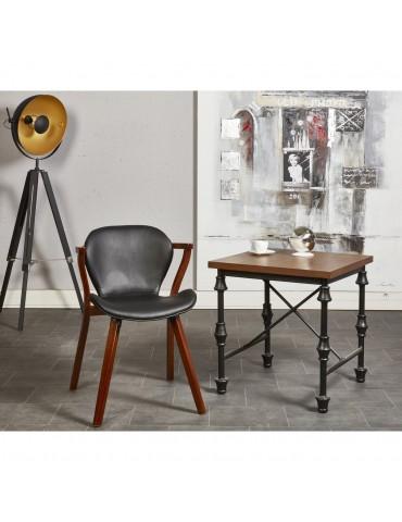 Chaise de sejour bow noir 35305NO