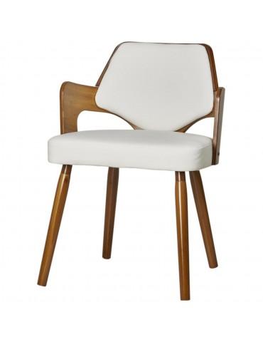 Chaise de sejour design scandinave niev blanc 35301BL