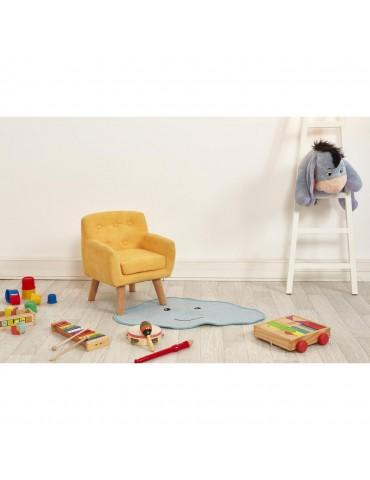 Fauteuil enfant tissu ormond jaune 25115JA