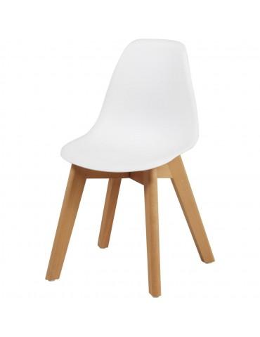 Chaise enfant scandinave aphra blanc 16186BL