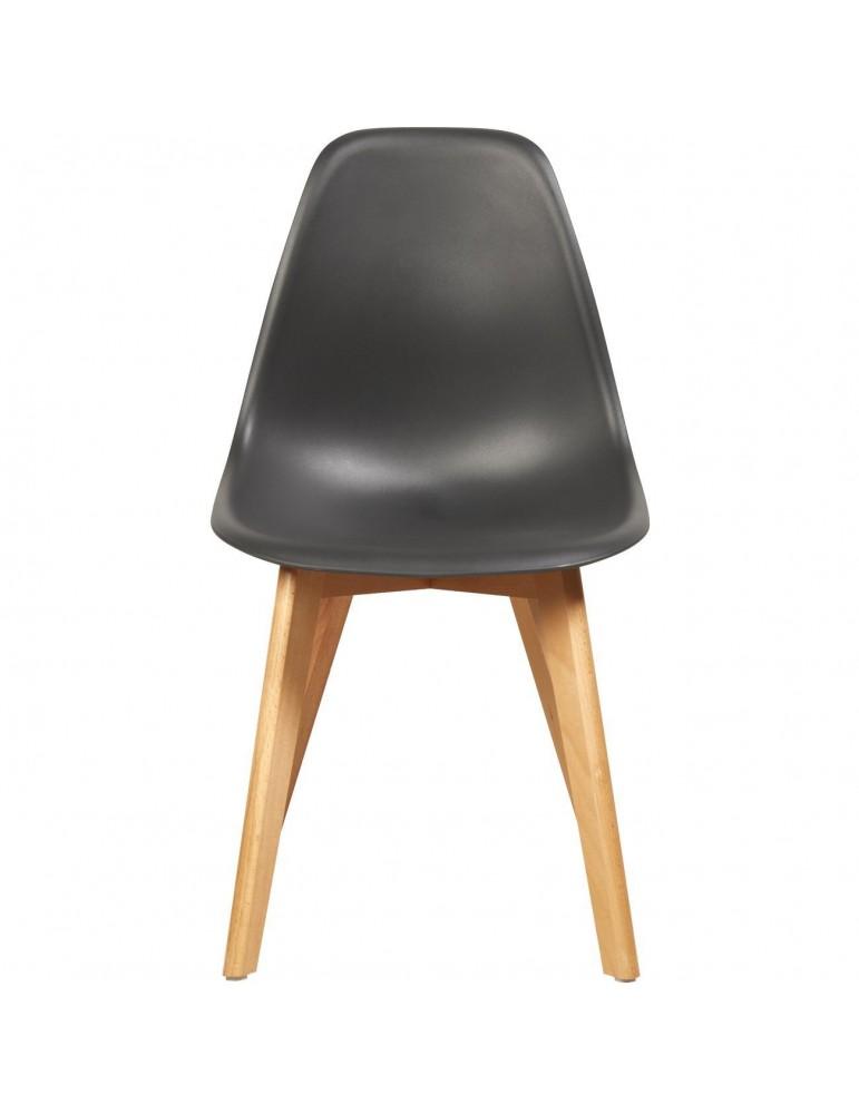 Lot de 4 chaises scandinaves liana noir 16150NO
