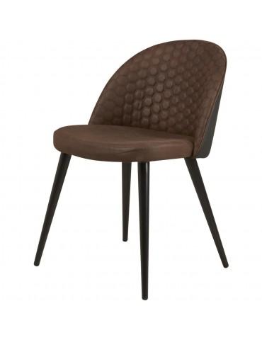 Lot de 4 chaises de sejour en tissu lumo noir 54408NO