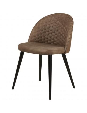 Lot de 4 chaises de sejour lumo taupe 54408TA
