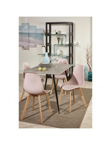 Lot de 4 chaises scandinaves liana rose 16150RE