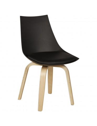 Chaise moderne hooper noir 16165NO