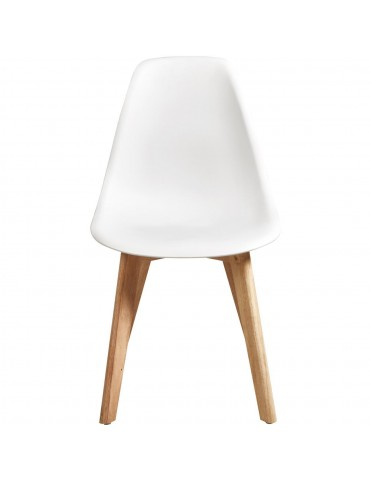 Lot de 4 chaises scandinaves liana blanc 16150BL