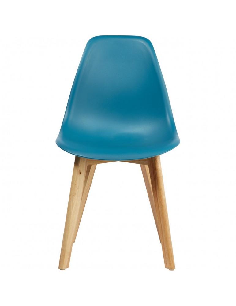 Lot de 4 chaises scandinaves liana bleu 16150BU