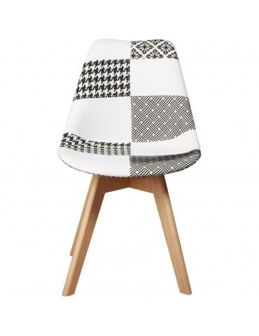 Chaise tendance hill gris et blanc 16131GB