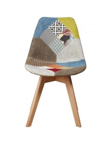 Chaise enid patchwork multicolore 16133MC
