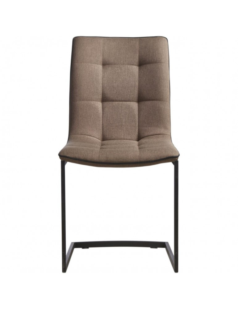 Lot de 4 chaises tissus stow taupe 14215TA