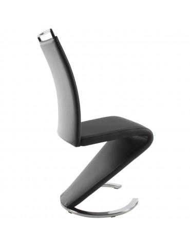 Lot de 2 chaises design kalaw gris 14260GR