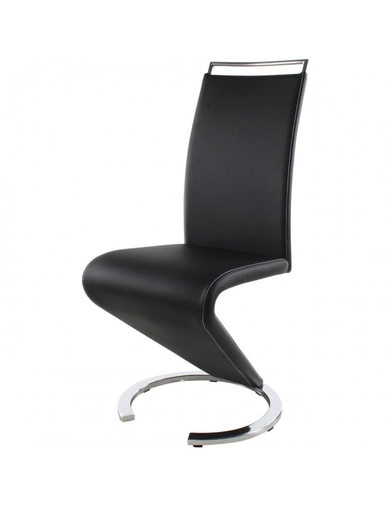 lot de 2 chaises design kalaw noir 14260NO