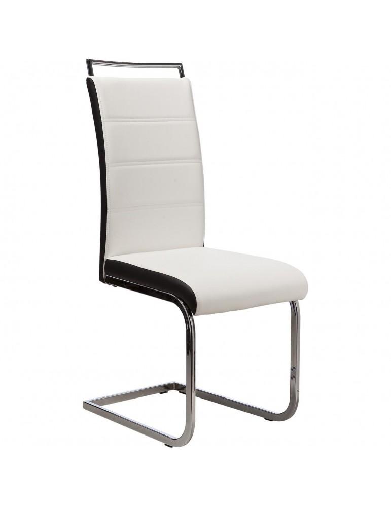 Lot de 2 chaises shaw blanc et noir 14503BN