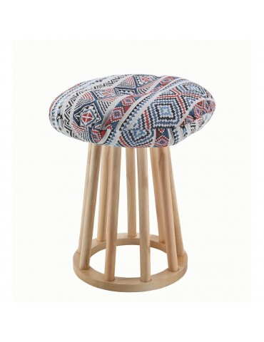 Pouf design mexicain claus bleu 13807M2