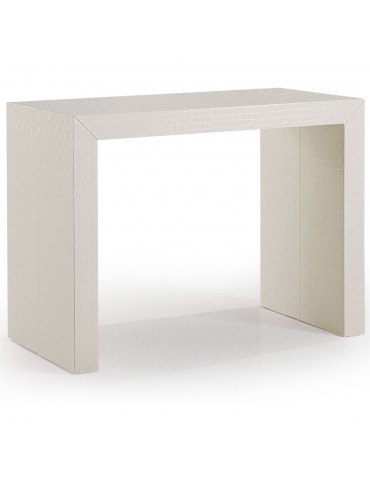 Table Console Celebration Osier Tisse Ivoire AT8030L-Osier Blanc