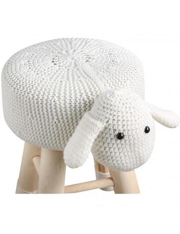 Pouf enfant mouton olla blanc 13614