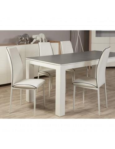 Chaise design duncan blanc 11431BL
