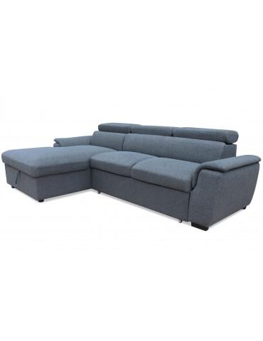 Canapé d'angle convertible Tinda Tissu Gris hm1784left2520