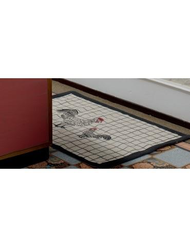 Tapis Chicken Gris 50 x 80 5630085000Les Ateliers du Linge