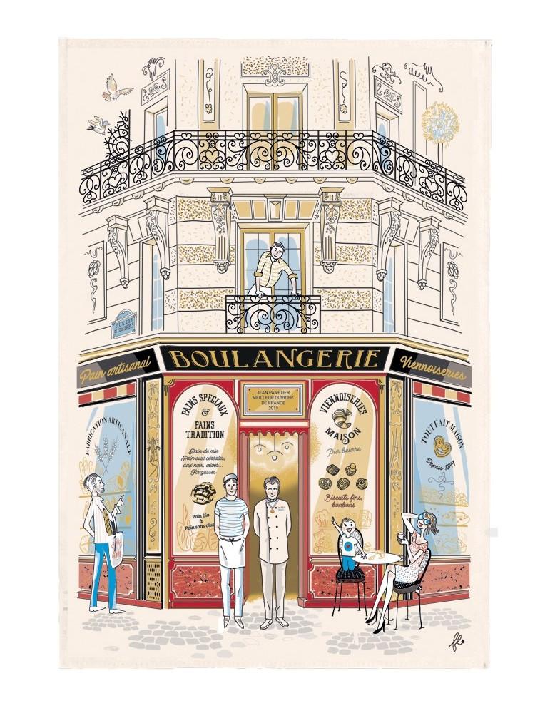 Torchon Façade Boulangerie Ecru 48 x 72 8567090000Winkler