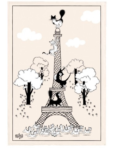 Torchon Dubout Escalade Tour Eiffel Ecru 48 x 72 8601010000Winkler