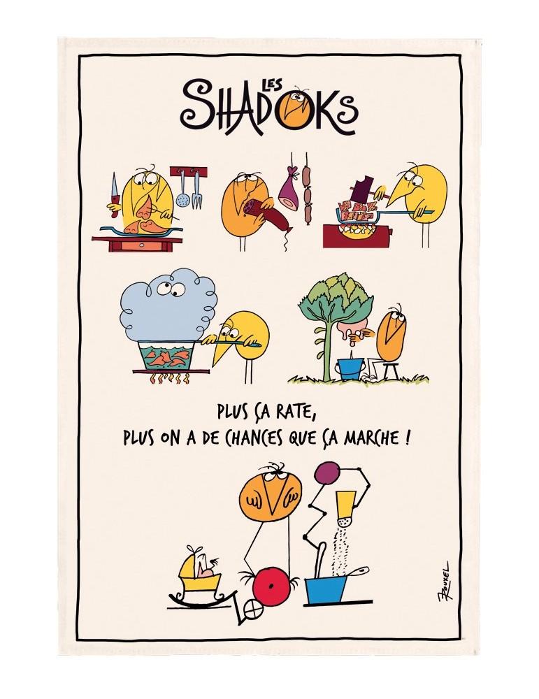 Torchon Shadoks en cuisine Ecru 48 x 72 8641010000Winkler