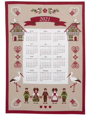 Torchon Calendrier 2021 Hisla Beige 50 x 70 8670080000Winkler