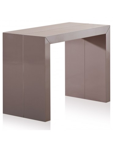 Table Console Nassau XL Laquee Taupe at-8027L-Taupe laque
