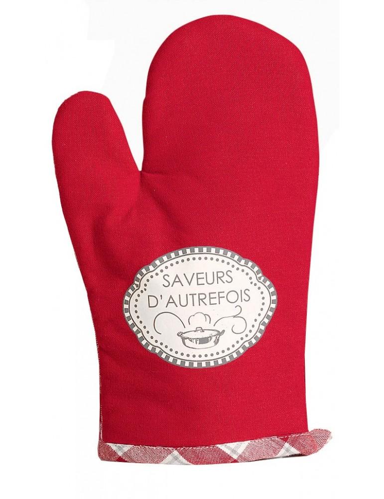 Gant de cuisine Saveurs d'autrefois Rouge 28 x 18 8533030000Winkler