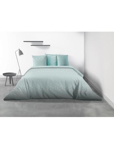 Parure de lit 2 personnes Fanny avec housse de couette et taies d'oreiller Imprimé 240 x 260 8352000503Les Ateliers du Linge