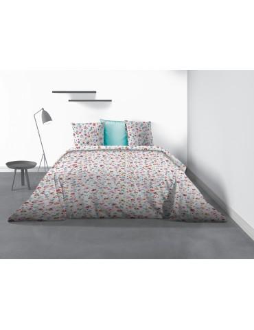 Parure de lit 2 personnes Liberty avec housse de couette et taies d'oreiller Imprimé 220 x 240 8356000503Les Ateliers du Linge