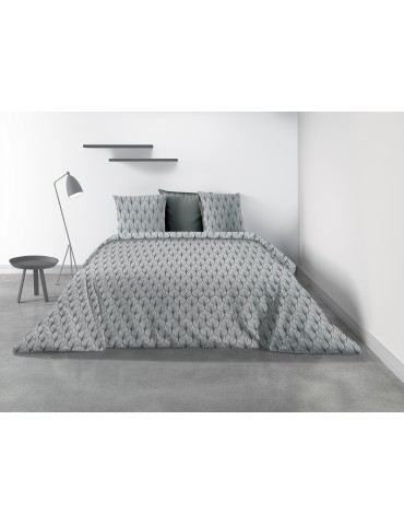Parure de lit 2 personnes Mucha avec housse de couette et taies d'oreiller Imprimé 220 x 240 8344000503Les Ateliers du Linge