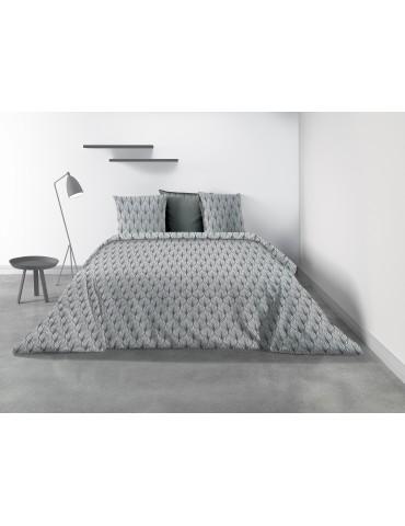 Parure de lit 2 personnes Mucha avec housse de couette et taies d'oreiller Imprimé 240 x 260 8349000503Les Ateliers du Linge