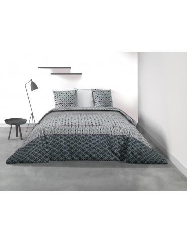 Parure de lit 2 personnes Elio avec housse de couette et taies d'oreiller Imprimé 240 x 220 8078000503Les Ateliers du Linge