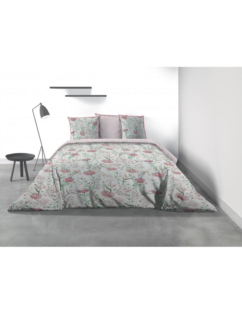 Parure de lit 2 personnes Phytea Pink avec housse de couette et taies d'oreiller Imprimé 260 x 240 8172000503Les Ateliers du ...
