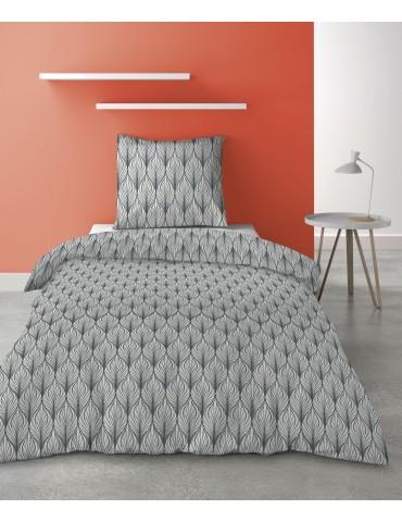 Parure de lit 1 personne Mucha avec housse de couette et taie d'oreiller Imprimé 140 x 200 8343000502Les Ateliers du Linge