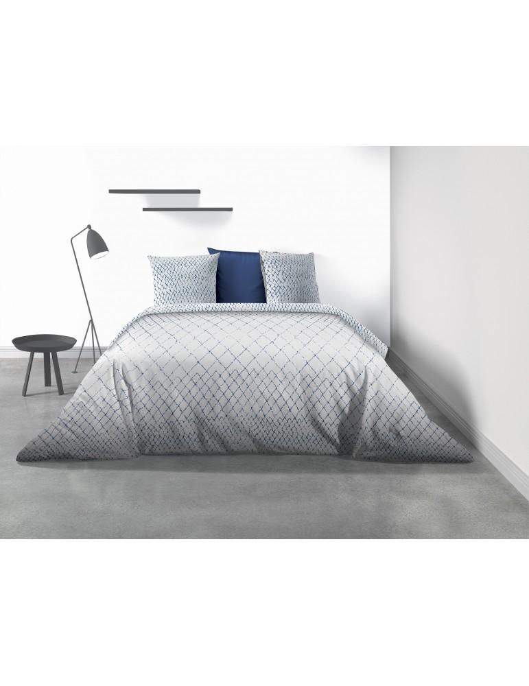 Parure de lit 2 personnes Taza avec housse de couette et taies d'oreiller Imprimé 260 x 240 7953000503Les Ateliers du Linge